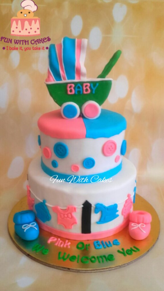 Fondant Baby Shower Cake Designs, Images, Price Near Me
