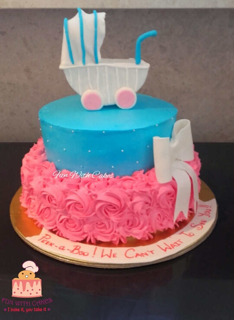 Baby Shower Cake in Cream Designs, Images, Price Near Me