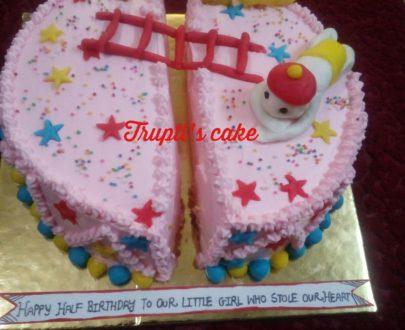 6 Months Birthday Theme Cake Designs, Images, Price Near Me