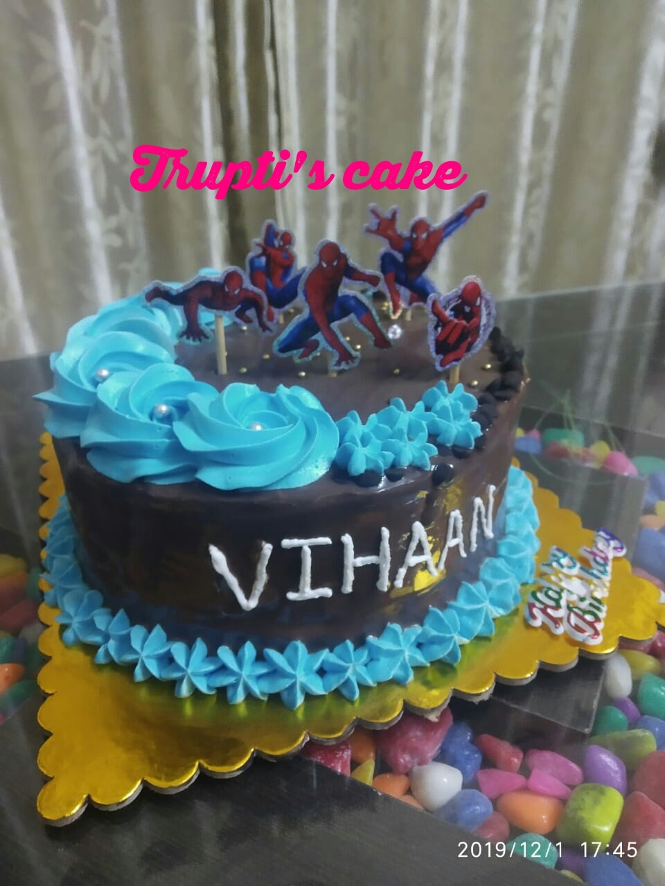 Chocolate Cake with Spider Man Theme Designs, Images, Price Near Me