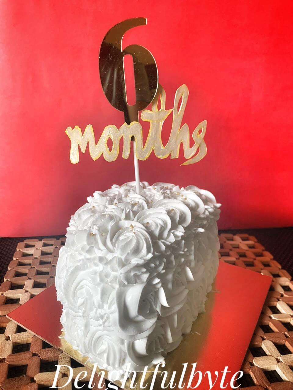 Six Month's / Half Cake Designs, Images, Price Near Me