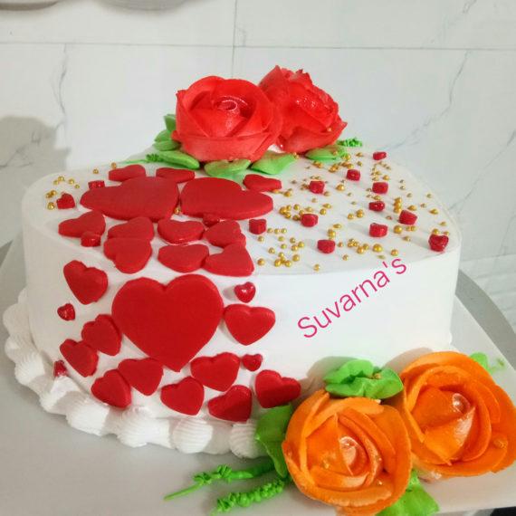 Anniversary Heartshap Cake Designs, Images, Price Near Me