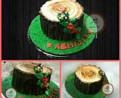 Black Forest Stump Tree Cake Designs, Images, Price Near Me