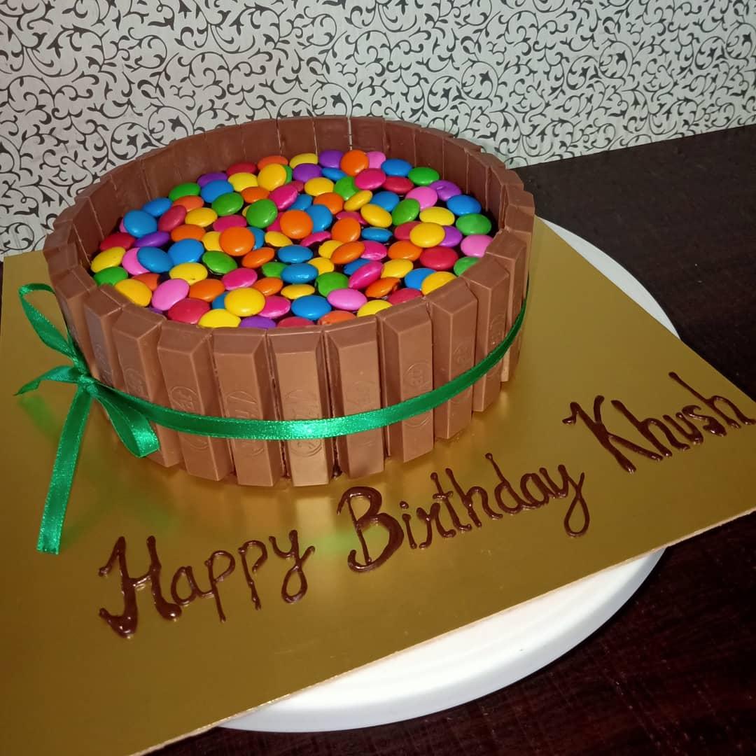 Kitkat Gems Cake Designs, Images, Price Near Me