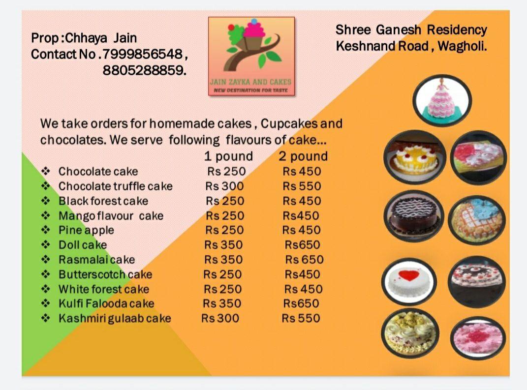 Jain zayka and cakes