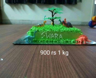 Dinosaur Park Theme Cake Designs, Images, Price Near Me
