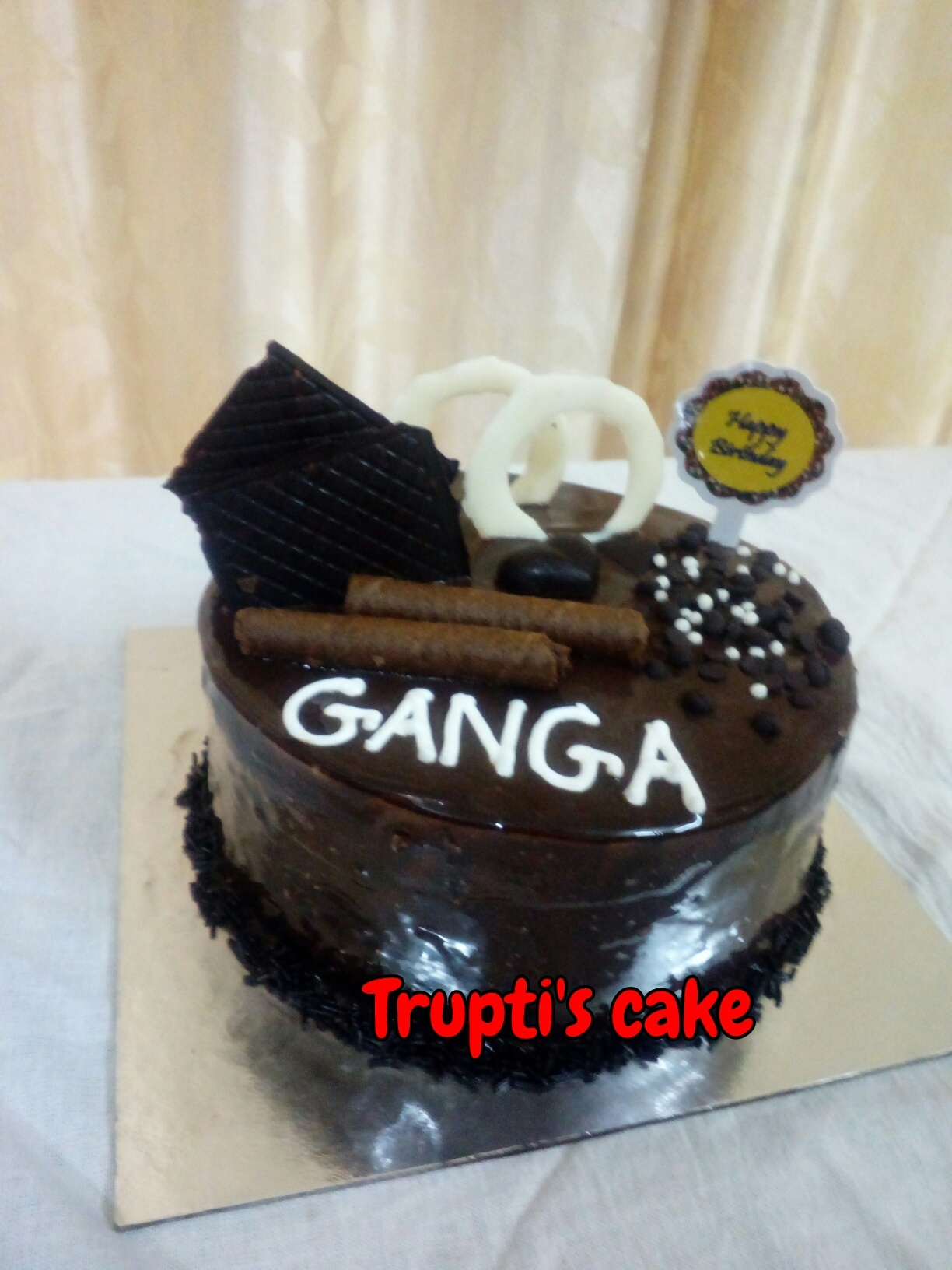 Chocolate Cake with Garnishing. Designs, Images, Price Near Me