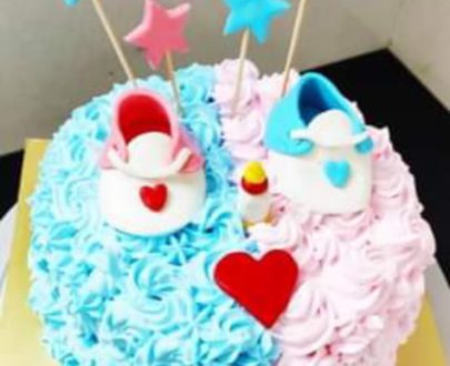 Baby shower cake /semi fondant cake Designs, Images, Price Near Me