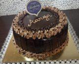 Eggless chocolate truffle + wipped cream cake