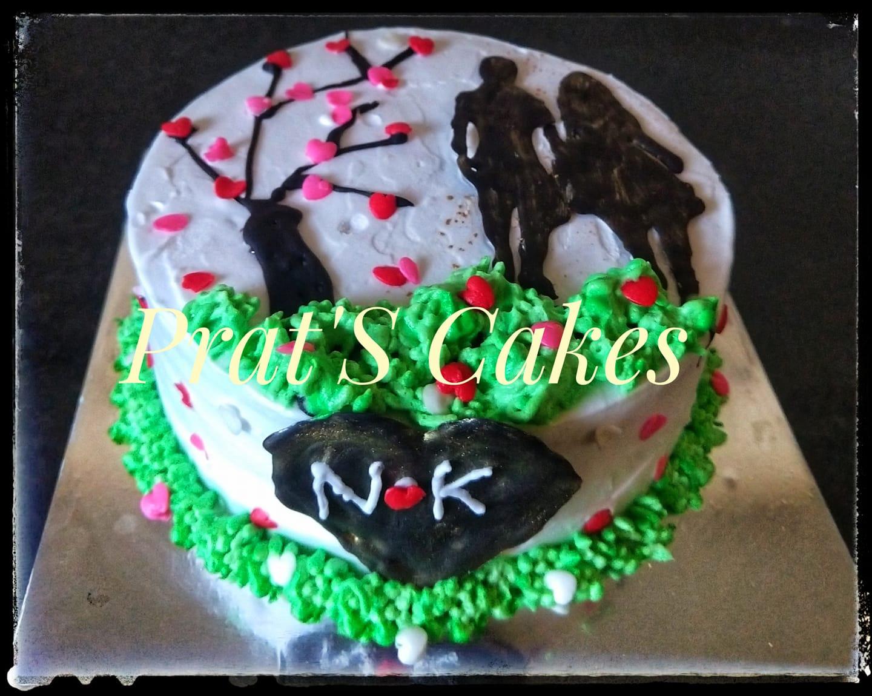 Anniversary Cake – Couple Theme Cake(Non-Fondant) Designs, Images, Price Near Me