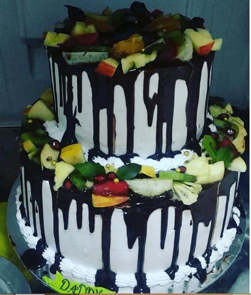 2 Tier Fruit Cake Designs, Images, Price Near Me