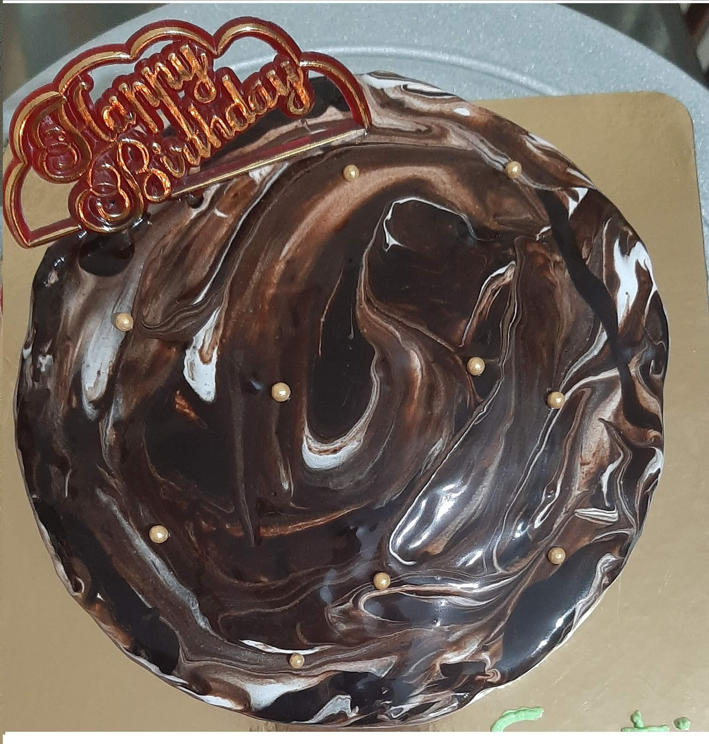 Coffee Flavour Marble Cake Designs, Images, Price Near Me
