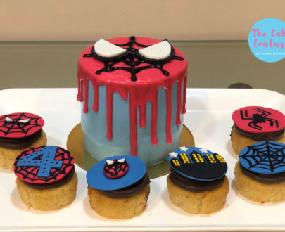 Spiderman Theme Cake with Cupcakes Designs, Images, Price Near Me