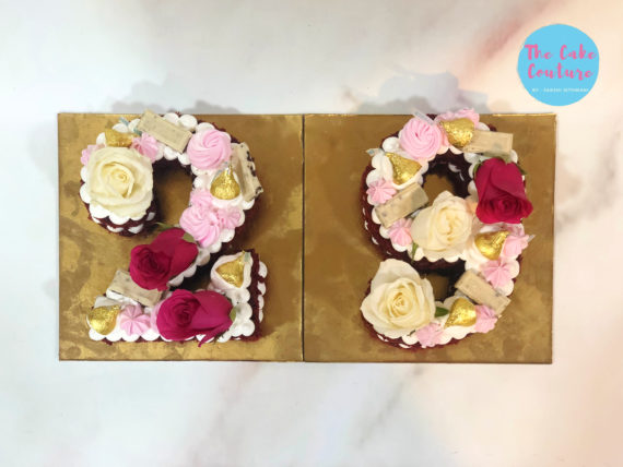 Age Number Cake(Red Velvet) Designs, Images, Price Near Me
