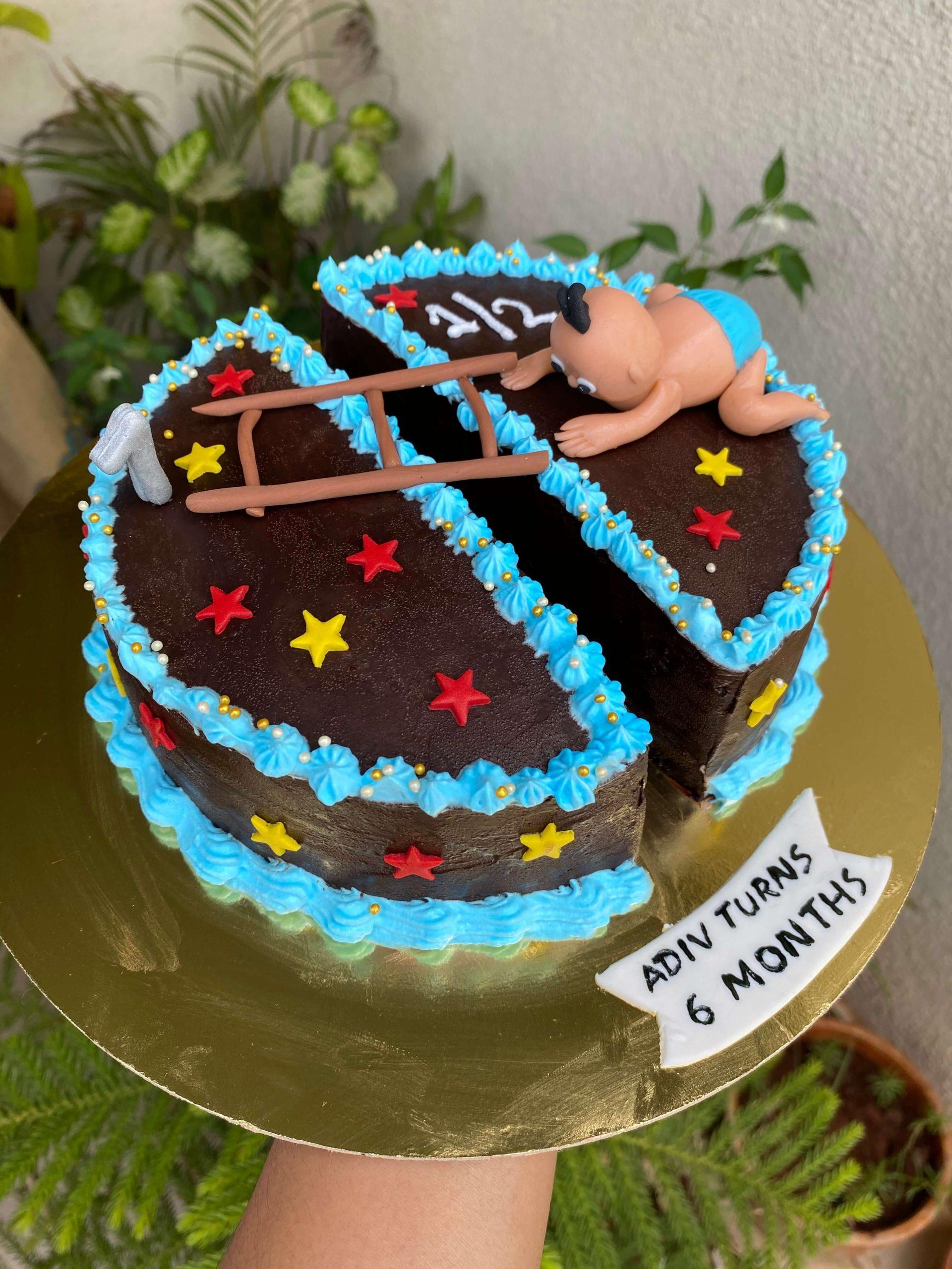 Half Birthday Cake Designs, Images, Price Near Me