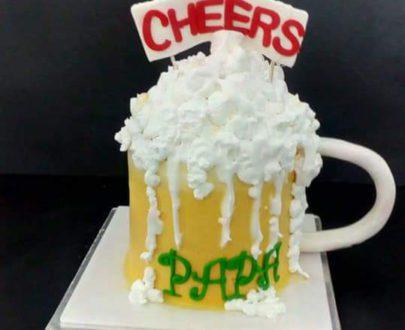 Beer Mug Cake Designs, Images, Price Near Me
