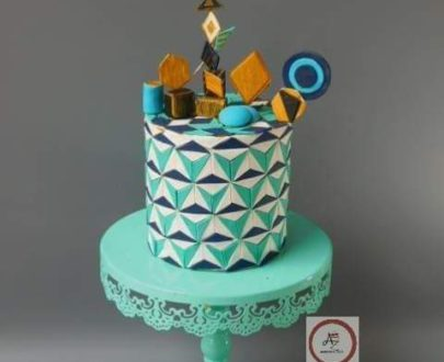 Geometric Pattern Cake Designs, Images, Price Near Me