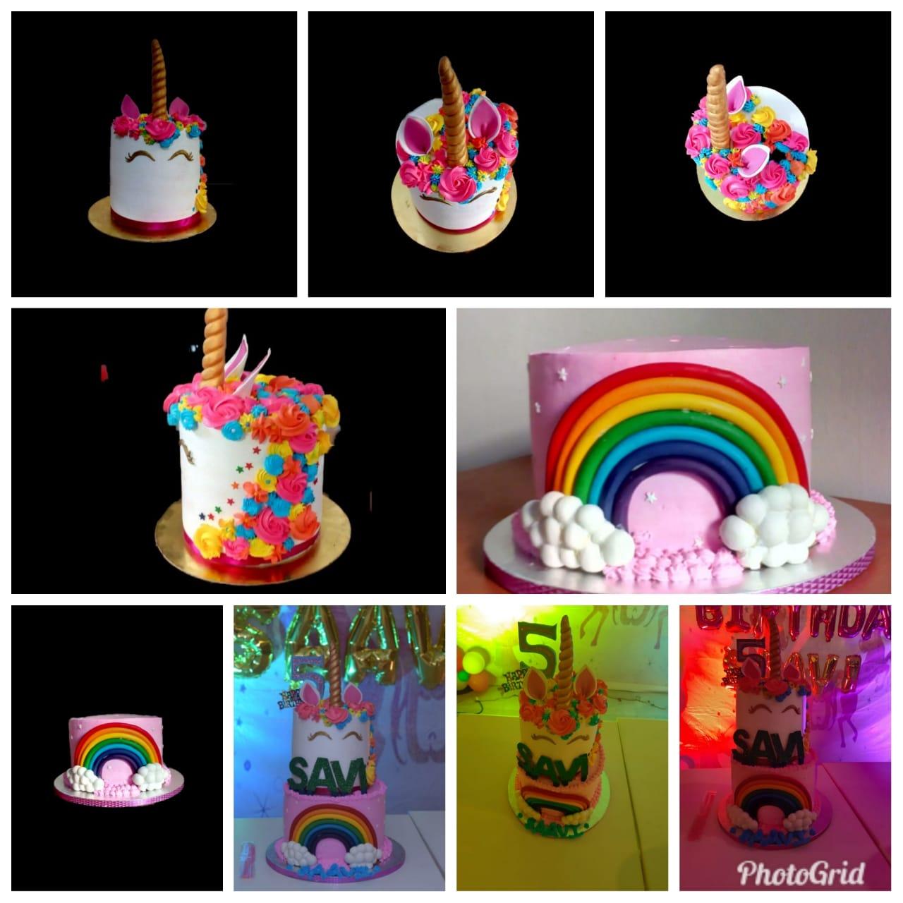 2 Tier Unicorn Rainbow cake Designs, Images, Price Near Me