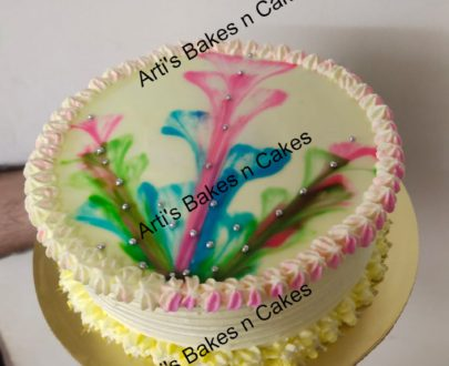 Thread Painting Cake Designs, Images, Price Near Me