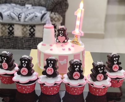 1st Birthday Cake with Cup Cakes Designs, Images, Price Near Me