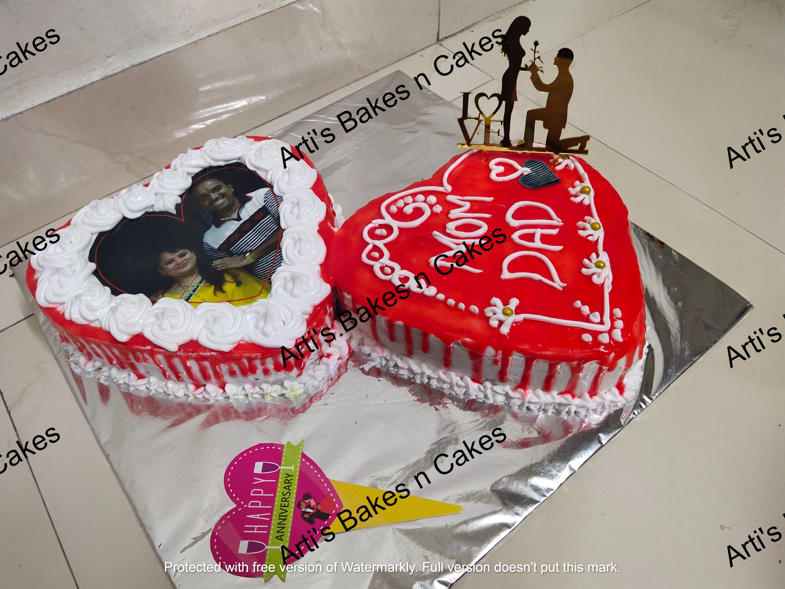 Anniversary Special Heart Shape Cake Designs, Images, Price Near Me
