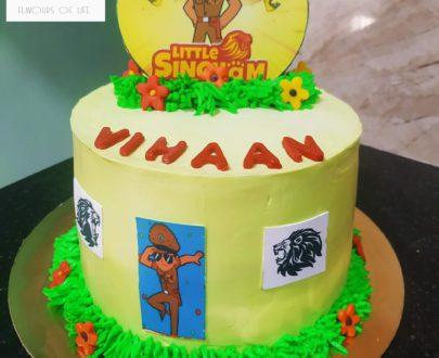 Little Singham Theme Cake Designs, Images, Price Near Me