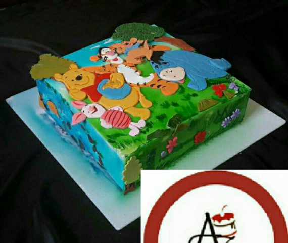 2D Winnie the Pooh Bear Cake Designs, Images, Price Near Me