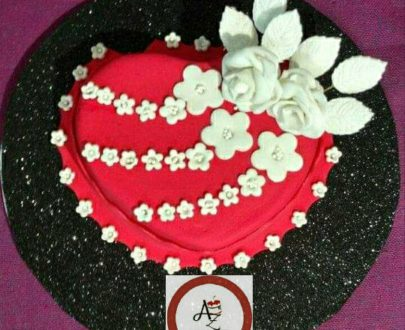 Heart Shaped Rose Flower Cake Designs, Images, Price Near Me