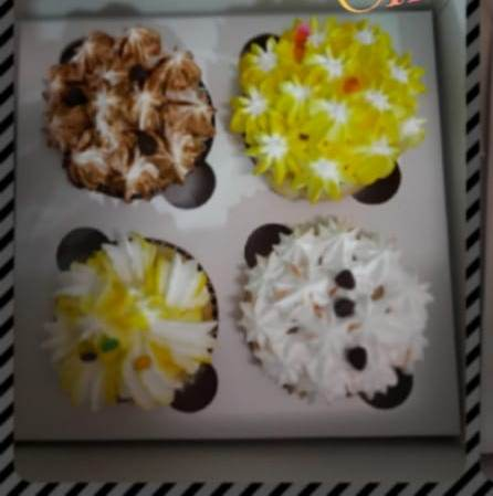 Cupcakes – Box of 4 Designs, Images, Price Near Me