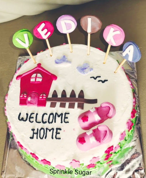 Welcome Home Cake for Baby Girl Designs, Images, Price Near Me