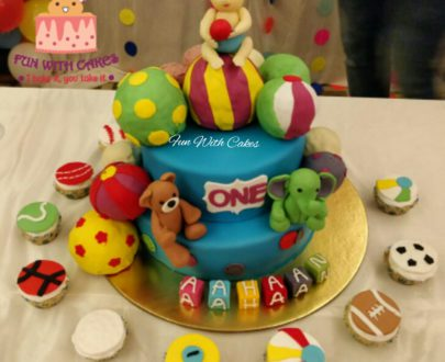 Ball Themed First Birthday Cake Designs, Images, Price Near Me