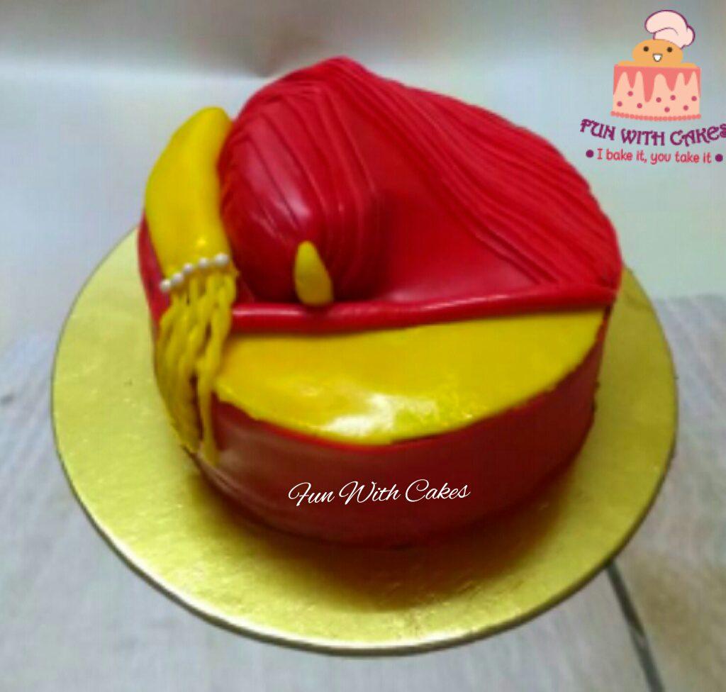 Puneri Pagadi Themed Cake Designs, Images, Price Near Me
