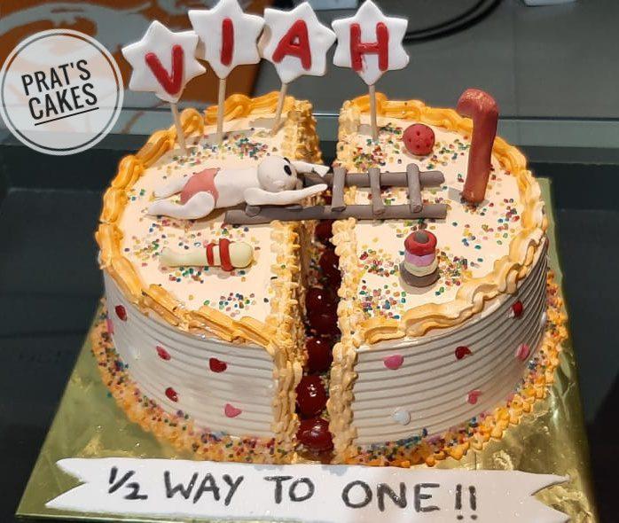 Half Year Birthday /Six Months Birthday Cake Designs, Images, Price Near Me