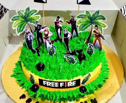FreeFire Theme Cake Designs, Images, Price Near Me