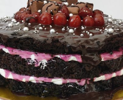 Naked Cake (Chocolate Black Currant ) Designs, Images, Price Near Me