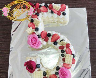 Number (Monogram) Cake Designs, Images, Price Near Me