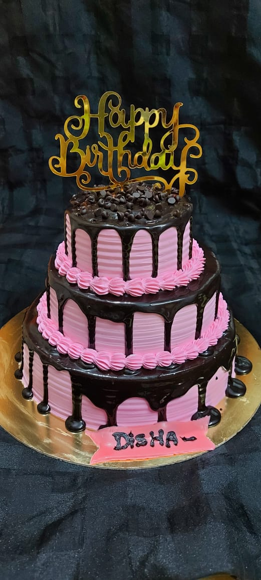 3 Tier Chocolate cake Designs, Images, Price Near Me