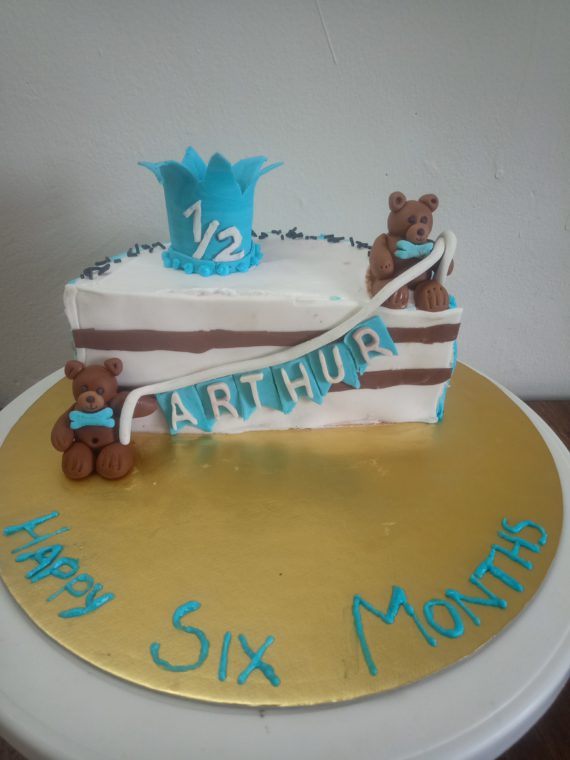 6 Months Birthday Cake Designs, Images, Price Near Me