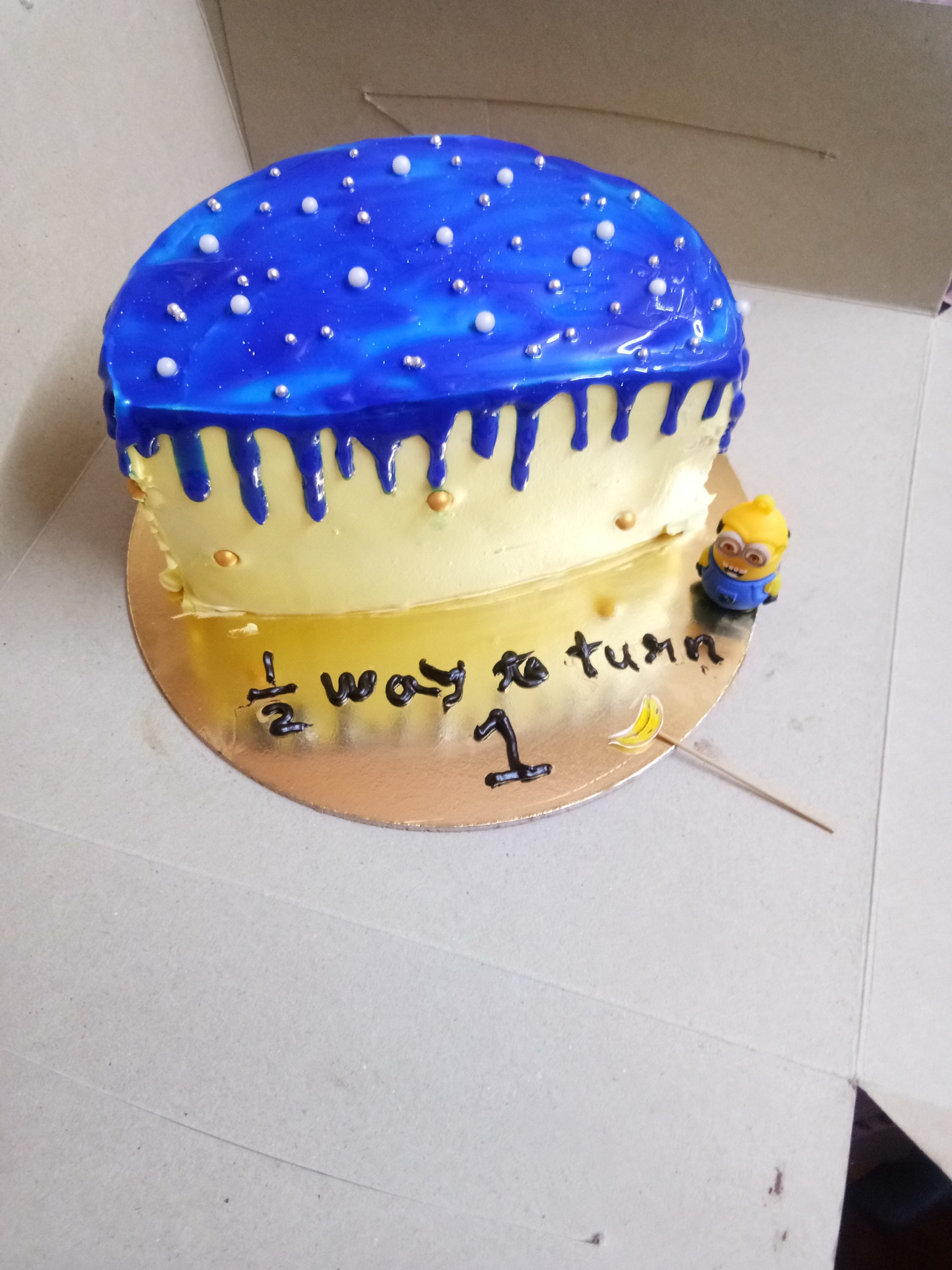 Half Year Birthday Cake Designs, Images, Price Near Me