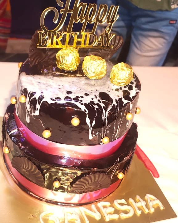 Rich Chocolate 2 Tier with Tiger print Designs, Images, Price Near Me