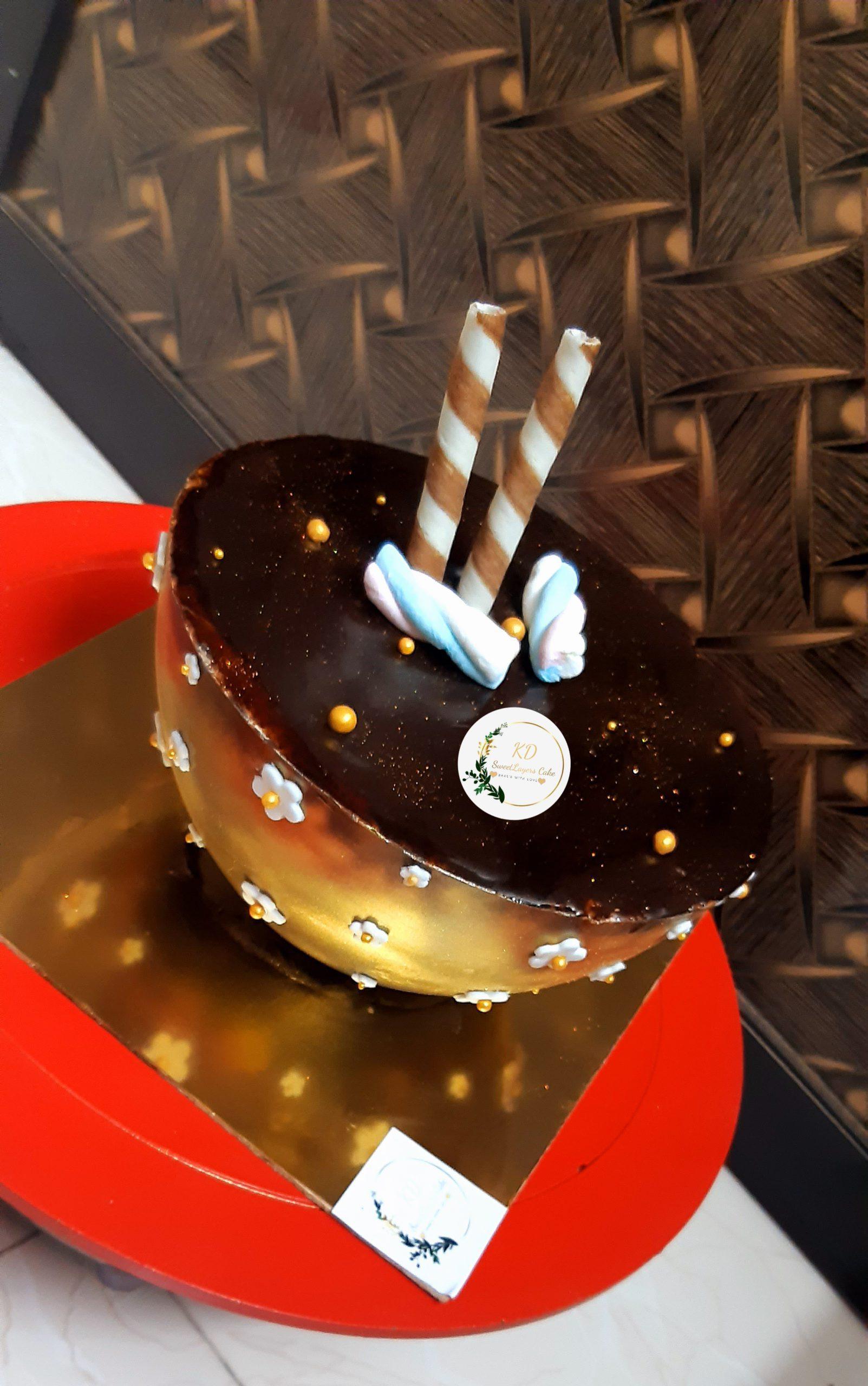 Irish chocolate Coffee Cake Designs, Images, Price Near Me