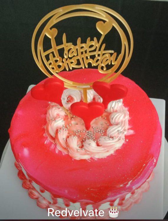 Red Velvet Cheese Cream Cake Designs, Images, Price Near Me