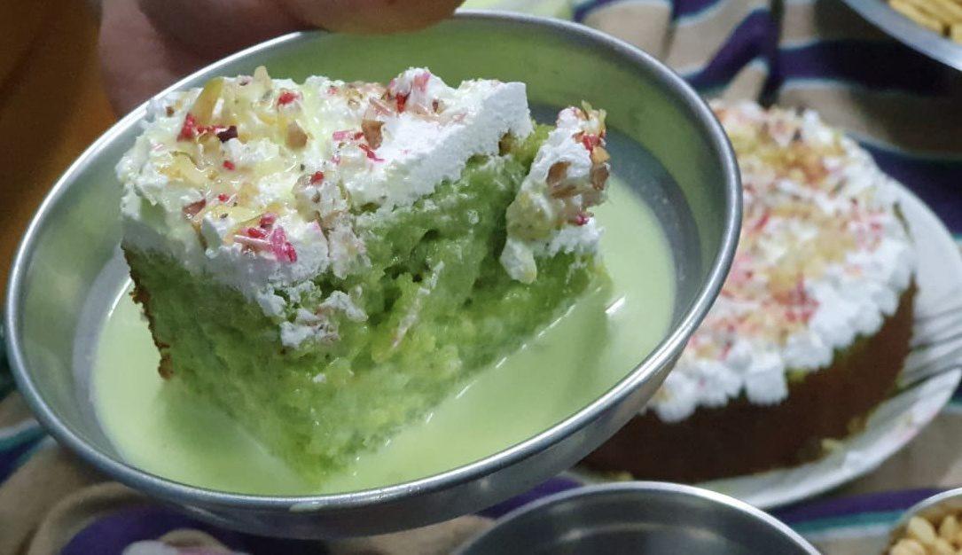 Pistachio Milk Cake(250 gm) Designs, Images, Price Near Me