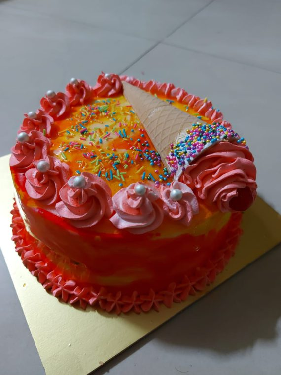 Rose Falooda Cake Designs, Images, Price Near Me