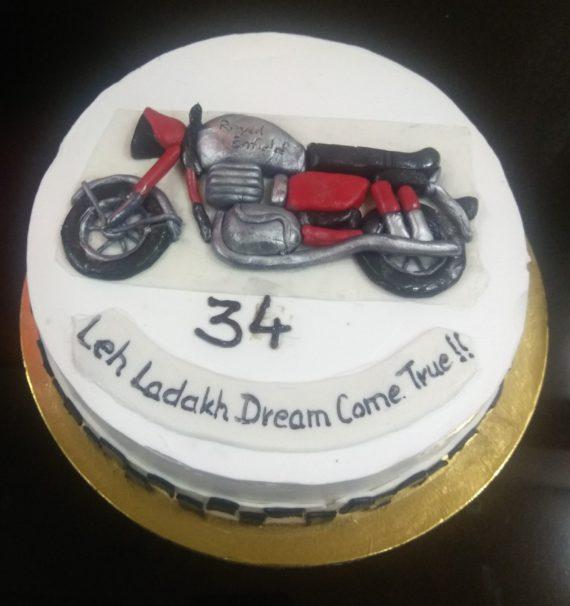 Bike Theme Cake Designs, Images, Price Near Me