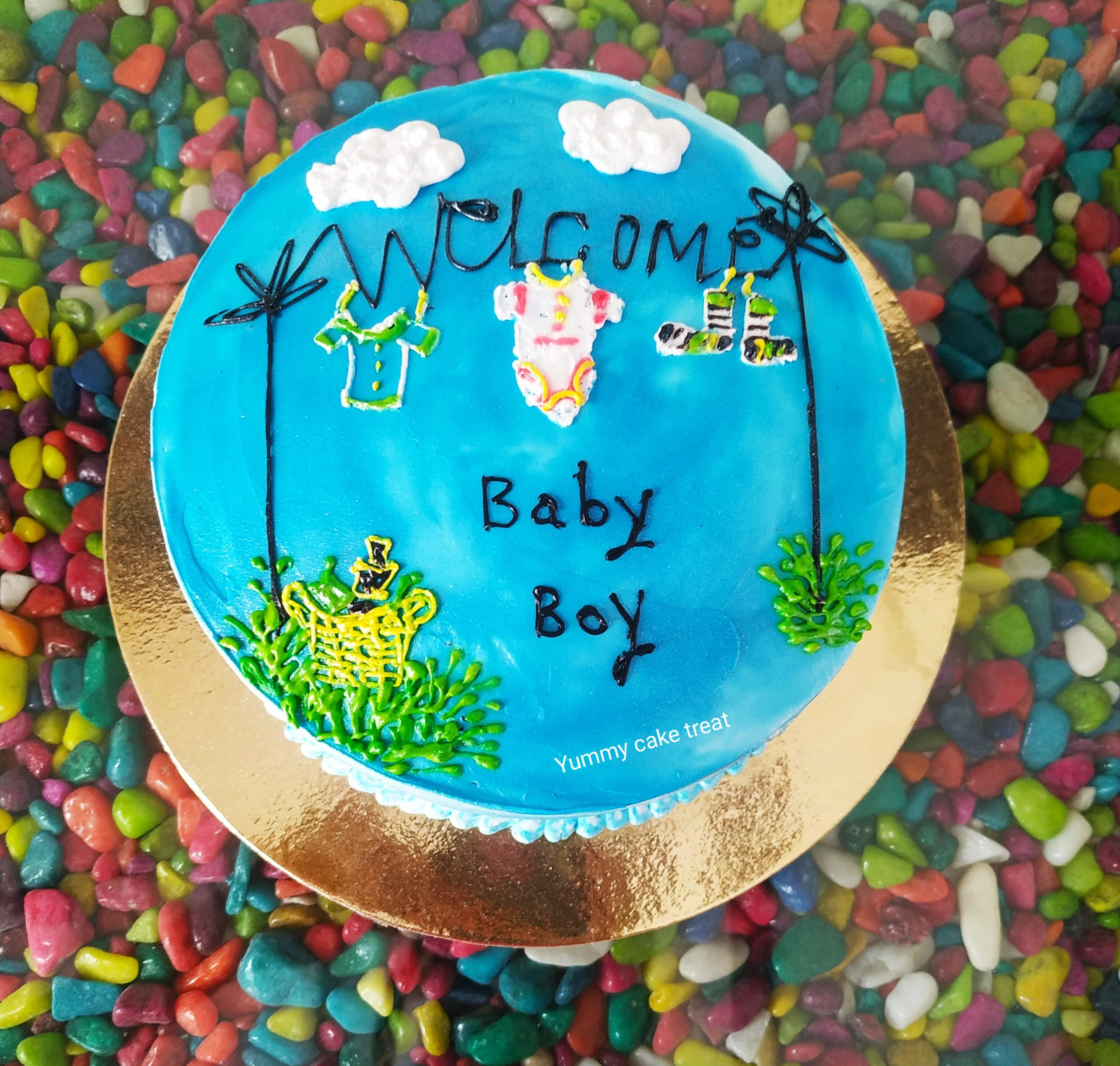Baby Welcome Cake Designs, Images, Price Near Me