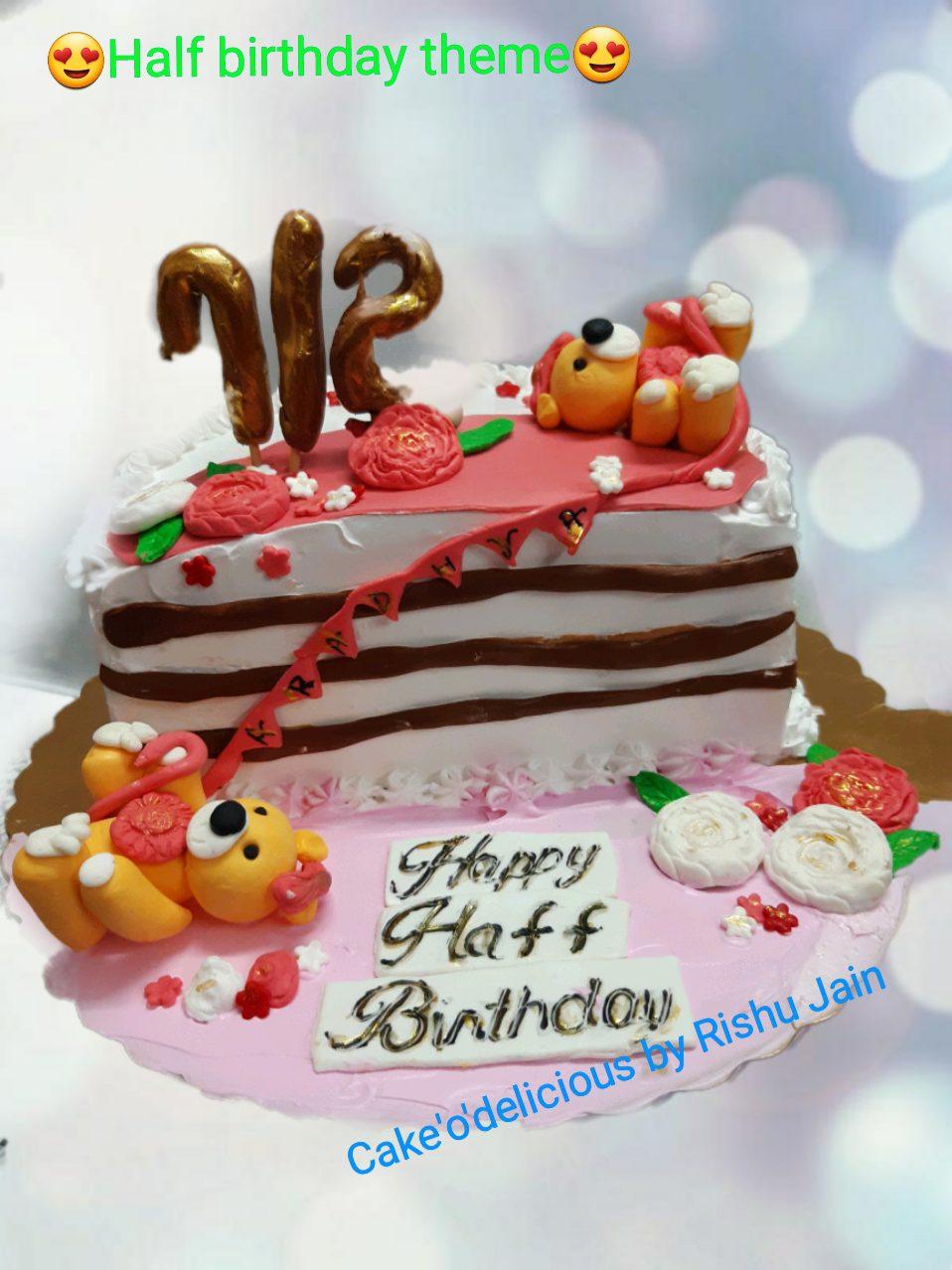 6 Month Birthday Cake Designs, Images, Price Near Me