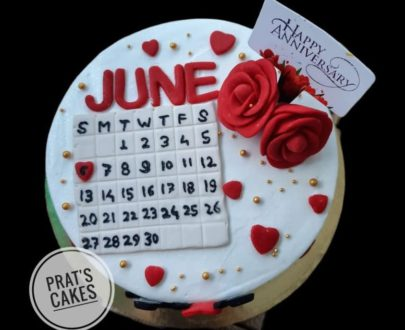Anniversary/Calender/Couple Theme Cake Designs, Images, Price Near Me