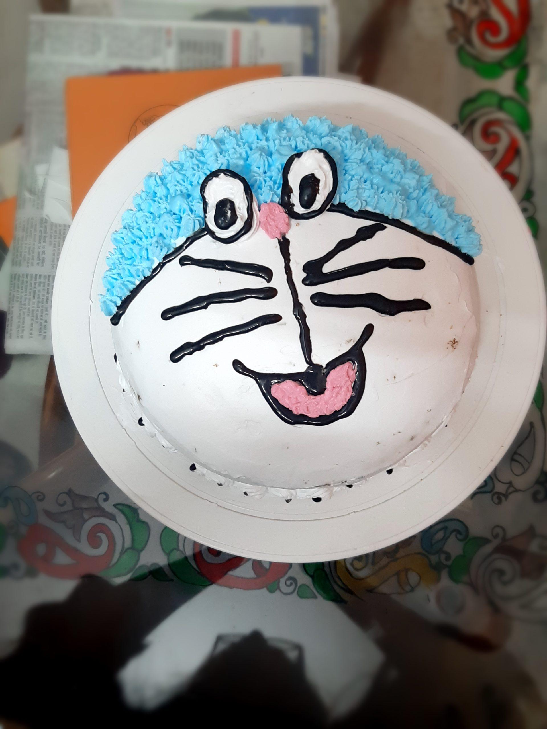 Doremon Theme Vanilla Cake Designs, Images, Price Near Me