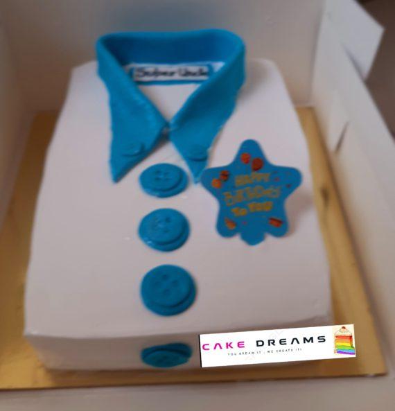 Shirt Theme Cake Designs, Images, Price Near Me